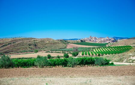 Picturesque landscape of Spain with blue sky