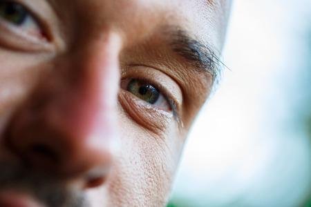 Macro view of an eye