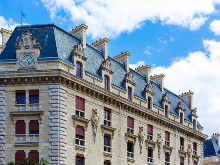 Beautiful old building in Paris Stock Photo