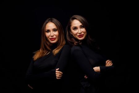 Beautiful girls twins Stock Photo