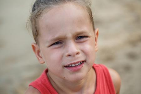 Portrait of a beautiful baby boy in sunlight Stock Photo