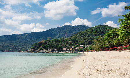 Beautiful nature landscape with blue sea in Thailand Stock Photo