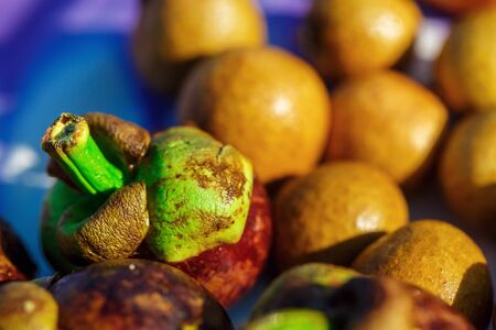 different exotic fruits in Thailand on a Sunny day 스톡 콘텐츠