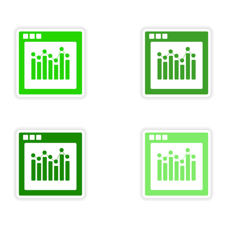 personal point of view: icon sticker realistic design on paper charts