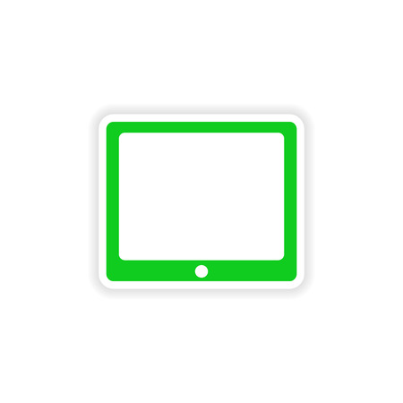 icon sticker realistic design on paper tablet Vector