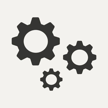 Flat in black and white mobile application settings Vector