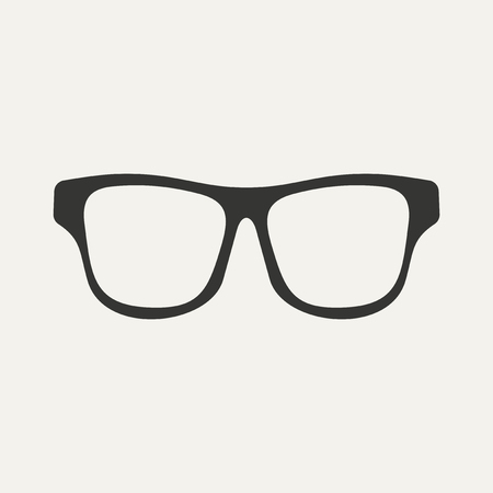 Flat in black and white mobile application glasses Vector