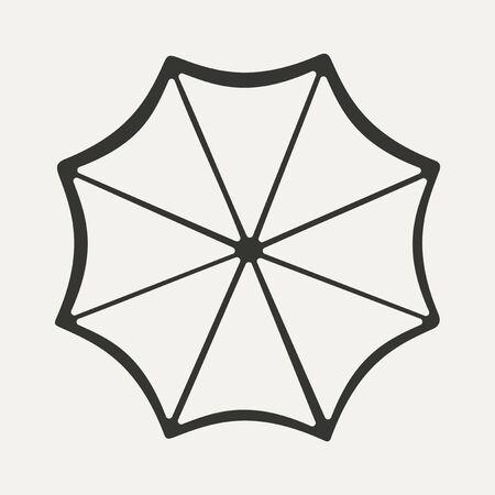Flat in black and white mobile application un umbrella Vector