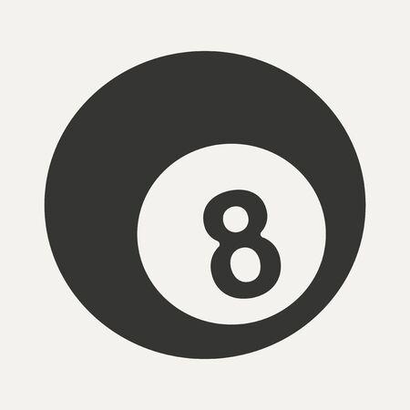 pool bola: Piso en la piscina de bolas de aplicaciones móviles en blanco y negro Vectores