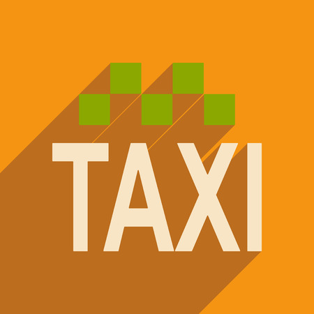 private parts: Flat with shadow icon and mobile applacation taxi Illustration