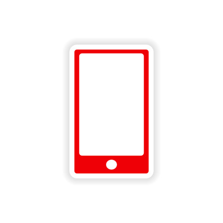 icon sticker realistic design on paper phone touch Vector