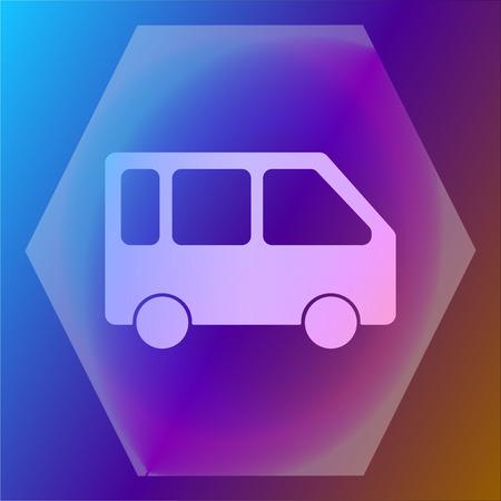 minivan: minivan icon Illustration