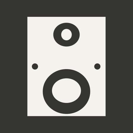 subwoofer: Flat in black and white mobile application subwoofer