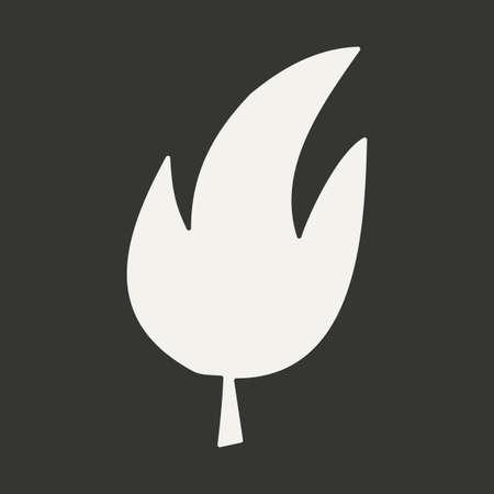 leaf tree: Appartamento in albero foglia di applicazioni mobili in bianco e nero