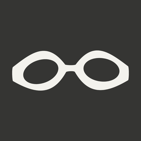 swimming goggles: Flat in black and white mobile application swimming goggles