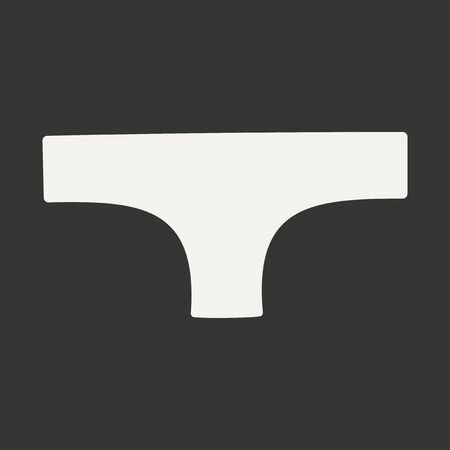 underpants: Flat in black and white mobile application underpants