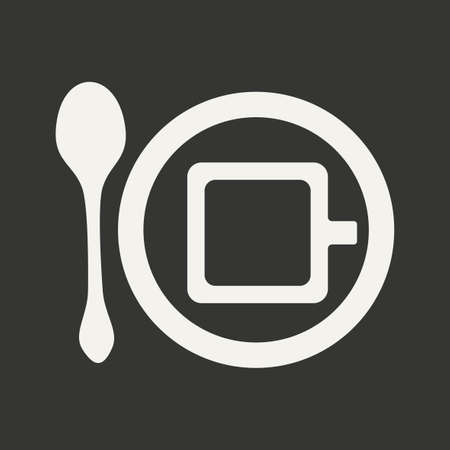 cofee: Flat in black and white mobile application cofee