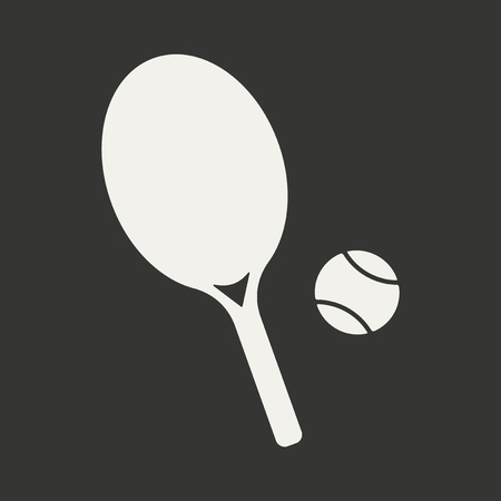 Flat in black and white mobile application tennis Vector