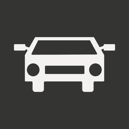 blacked: Flat in black and white mobile application car