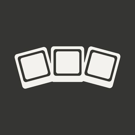 Flat in black and white mobile application photocards Vector