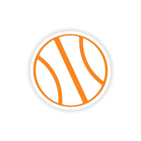 icon sticker realistic design on paper basketball Vector