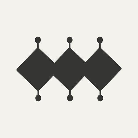 alchemist: Flat in black and white mobile application mystical symbols Illustration