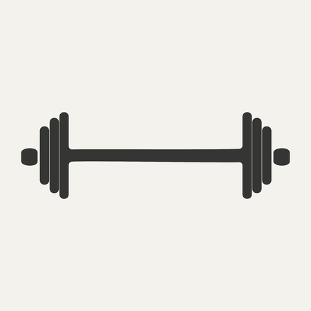 eps 10: Flat in black and white mobile application barbell