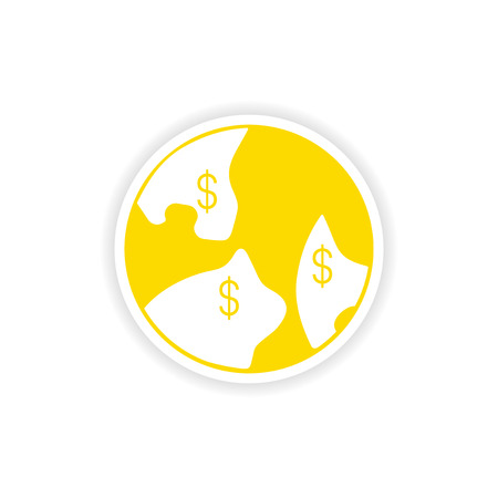 paper currency: icon sticker realistic design on paper currency indexation Illustration