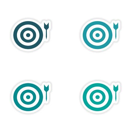 customization: assembly realistic sticker design on paper darts