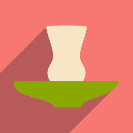 figura: Plano com pictograma sombra e vidro aplicação móvel oriental