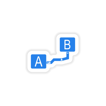 interval: icon sticker realistic design on paper interval