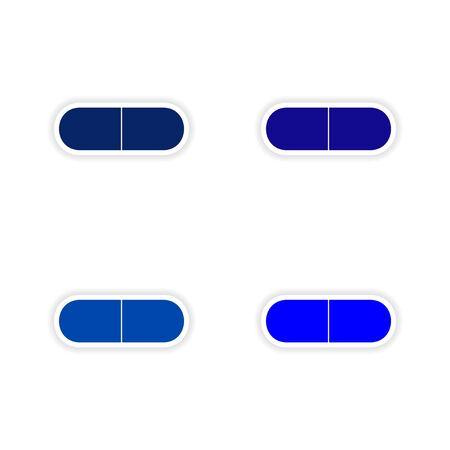 customization: assembly realistic sticker design on paper pills