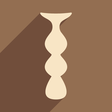mine: Flat with shadow icon and mobile application mine hookah Illustration