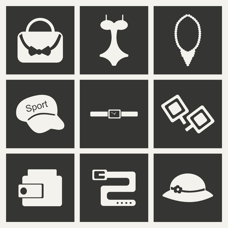 mobile accessories: Flat in black and white concept mobile application  accessories