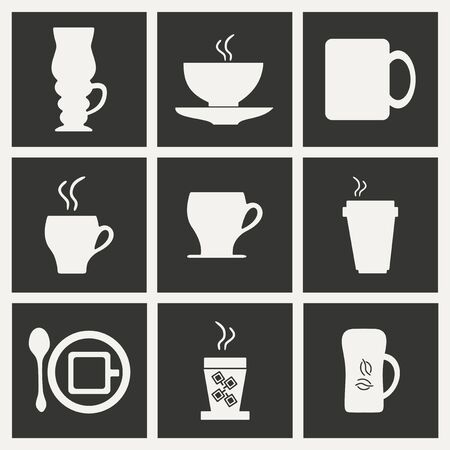 cofee: Flat in black and white concept mobile application cofee