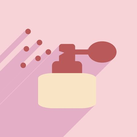 perfum: Flat with shadow icon and mobile application perfume Illustration
