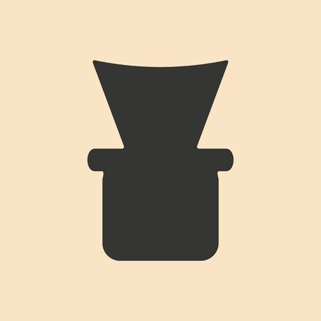 shisha: Flat in black and white mobile application shisha bowl Illustration