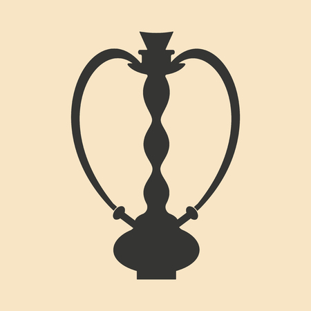 figura: Flat in black and white mobile application hookah shisha