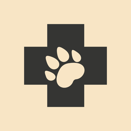 caduceus veterinary symbol: Flat in black and white mobile application Veterinary