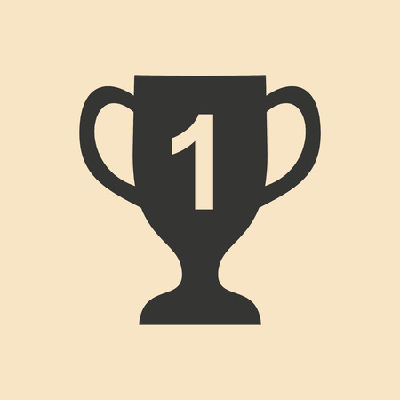 winning first: Flat in black and white mobile application cup winner