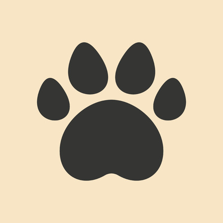 pets background: Flat in black and white mobile application traces of animals
