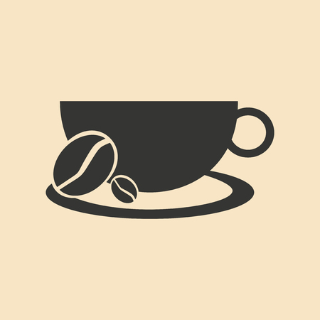 Flat in black and white mobile application demitasse
