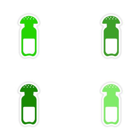 salt free: assembly realistic sticker design on paper salt