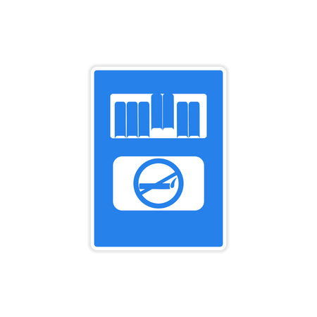 smokers: icon sticker realistic design on paper pack of cigarettes