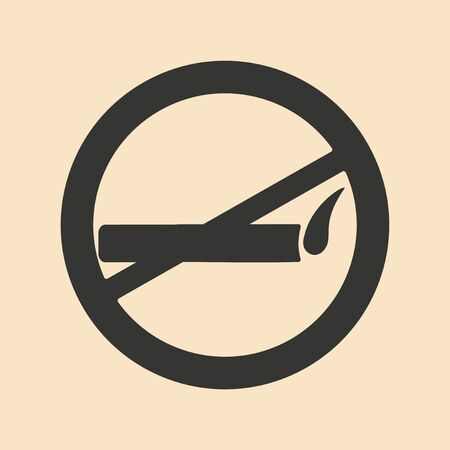 allowed: Flat in black and white mobile application smoking allowed Illustration