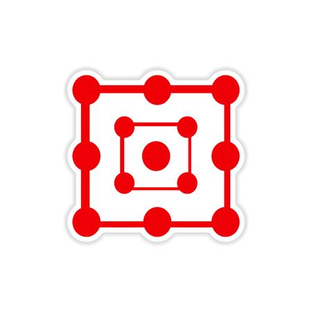 wizardry: icon sticker realistic design on paper alchemy symbols