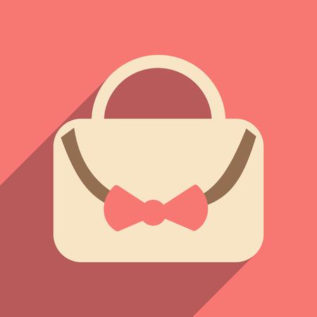 handbags: Flat with shadow icon and mobile applacation Handbags Illustration