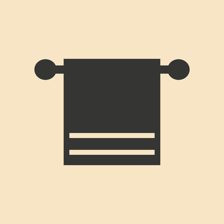 towels: Flat in black and white mobile application kitchen towels