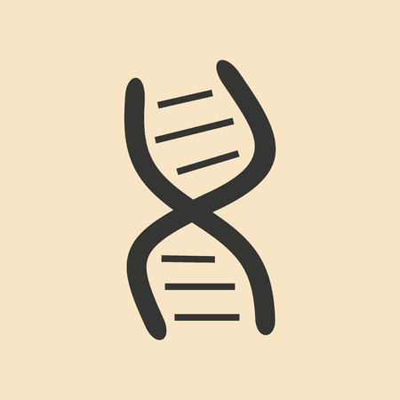 genes: Flat in black and white mobile application genes