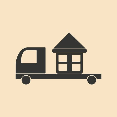 Flat in black and white mobile application home delivery Illustration